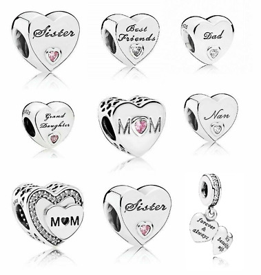 New Pandora Moments Daughter Wife Dad Mum Granddaughter Auntie Nan Friend Charm • 14.99£