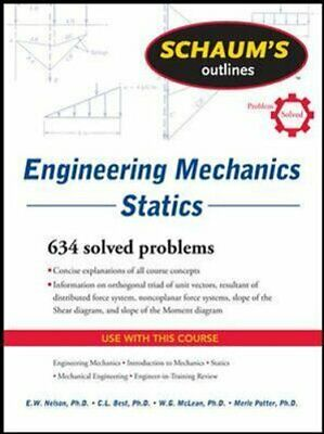 Schaum's Outline Of Engineering Mechanics: Statics By E. Nelson 9780071632379 • 15.16£