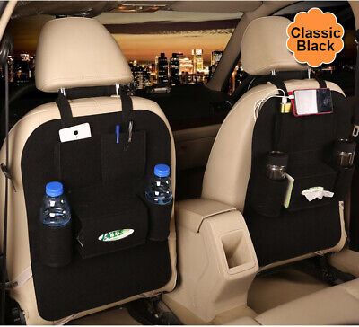 $9.88 • Buy Car Organizer Back Seat Storage Black Bag Interior Accessories Pocket Cup Holder