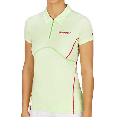 Babolat Girls Tennis Match Performance Short Sleeve Polo Shirt Top - Green • 4.76£