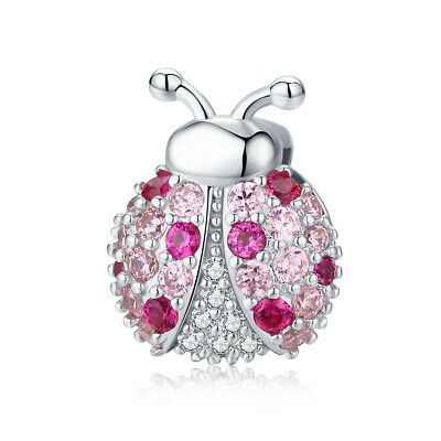 Pink Ladybird Charm For Reflexions Genuine 925 Silver • 16£