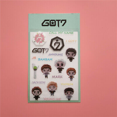 $ CDN4.83 • Buy Kpop EXO X1 BLACKPINK GOT7 Bomb Hair Logo Name Cartoon Sticker For Phone Laptop