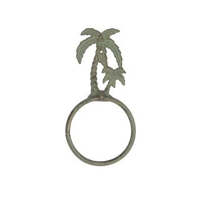 $12.95 • Buy Beach Palmetto Palm Trees Speckled Bronze 9.25x4.75  Metal Nautical Towel Ring