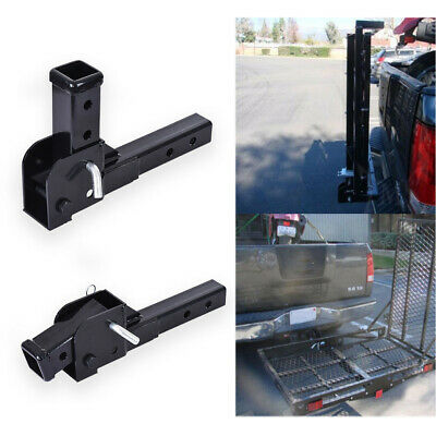 $39.98 • Buy 2  Trailer Hitch Shank Mount Folding Extension Adjustable Carrier Adapter 500lbs