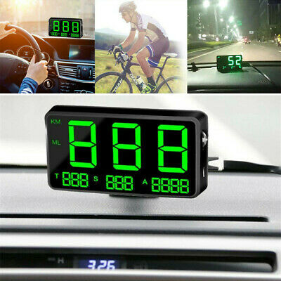 Digital GPS Speedometer HUD MPH KM/h Overspeed Warning For Car Motorcycles- • 13.99£
