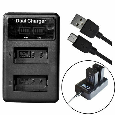 AU10.44 • Buy Dual EN-EL20 EL20a Battery Charger For Nikon Coolpix A AW1 J1 J2 J3 S1 V3 P1000