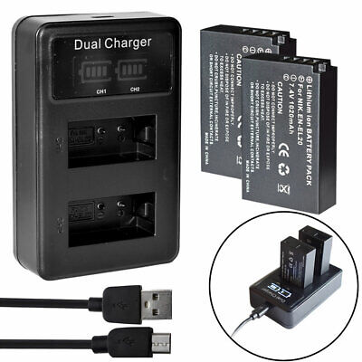 AU6.64 • Buy EN-EL20 Battery EL20a Or Charger For Nikon Coolpix A AW1 1 J1 J2 J3 V3 S1 P1000