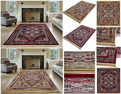 Large Traditional Carpets Vintage High Quality Area Rugs Living Room Bedroom Mat • 20.99£