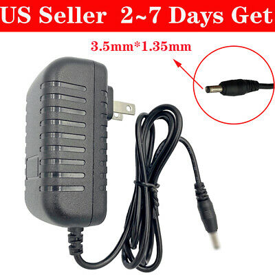 $6.18 • Buy AC 100-240V To DC 9V 1A 1000mA Power Supply Adapter Plug 3.5mm*1.35mm Cord PUS