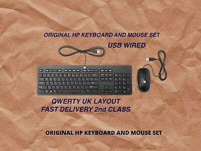 Cheap Hp Keyboard And Mouse Set,usb Wired Qwerty Uk Layout, Fast & Free Delivery • 12.88£