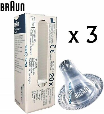 £8.99 • Buy Braun Probe Covers Thermoscan Replacement Lens Ear Thermometer Filter Caps