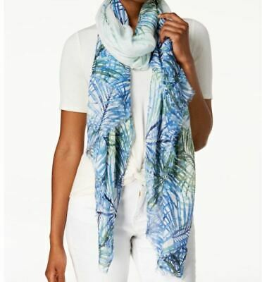 Calvin Klein Tropical Fern Cover-Up & Scarf - Size: ONE SIZE - Colorful - NWT • 9.44£