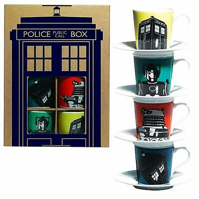 £14.99 • Buy Doctor Who Espresso Coffee Cup Set Of 4 NEW