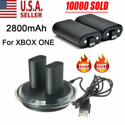 For XBOX ONE Controller Play Charging Cable + 2x Rechargeable Battery Pack • 13.29$