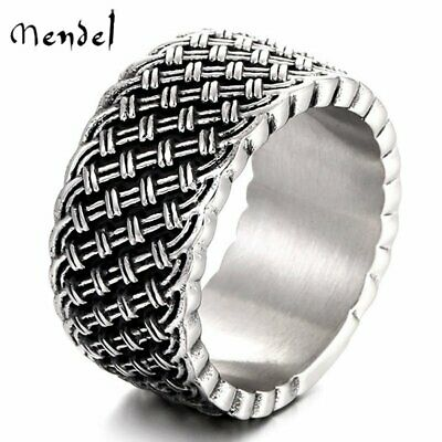 $10.99 • Buy MENDEL Mens Stainless Steel Celtic Knot Braided Wedding Band Ring Size 6-15