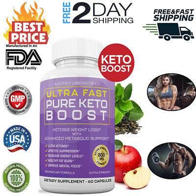 $22.50 • Buy Ultra Fast Pure Keto Boost Weight Loss Diet Pills Ketogenic Supplement BHB-800mg