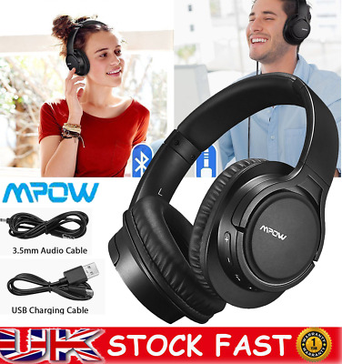 Mpow Wireless Headphones Bluetooth Headset Noise Cancelling Over Ear With Mic UK • 29.59£