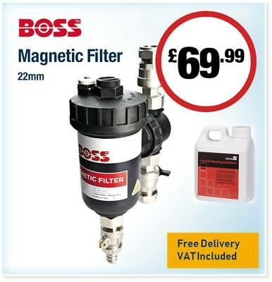 £69.99 • Buy Boss 22mm Magnetic Central Heating System Sludge Debris Filter With Inhibitor
