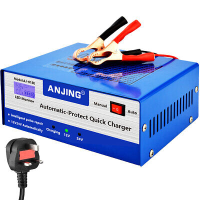 View Details 10A 12V/24V Car Battery Charger Jump Starter Motorcycle Intelligent Pulse Repair • 29.99£