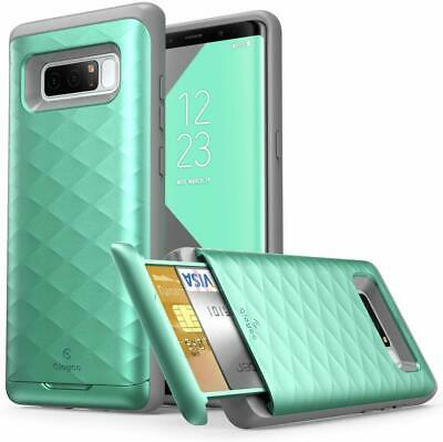 AU16.99 • Buy Original For Samsung Galaxy Note 8, Clayco Wallet Case W/ Card Slot Holder Cover