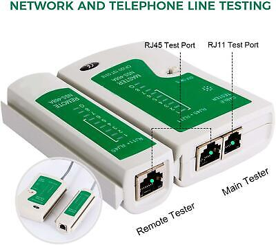 RJ45 Network Cable Tester CAT5e CAT6 RJ11 Ethernet LAN PC Wire Lead Testing Tool • 4.89£