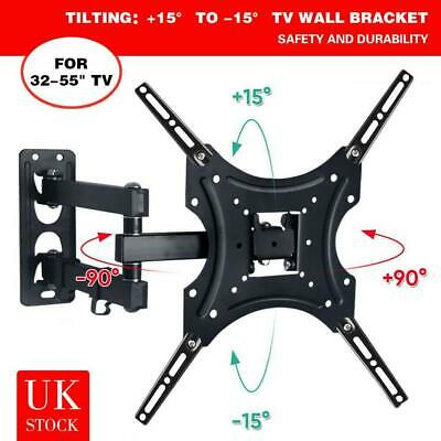 TV Wall Bracket Tilt & Swivel Monitor Mount For 32 37 40 42 43 55 50 Inch LCD  • 8.99£
