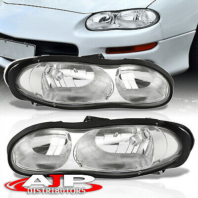 $94.99 • Buy Chrome Housing Headlights Headlamps Pair Left+Right For 1998-2002 Chevy Camaro