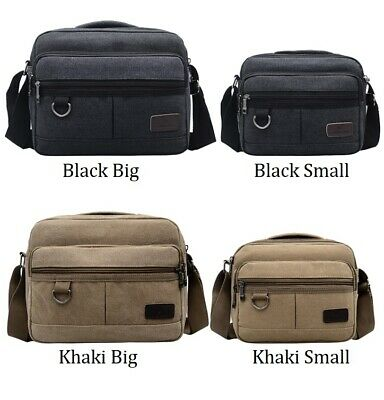 AU22.95 • Buy Unisex Men's Women Canvas Shoulder Messenger Bag Cross Body Satchel Travel Bags