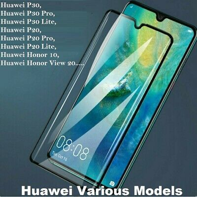 Full Curved Tempered Glass Screen Protector Huawei Honor 9X 8X P20 P30 Pro Lite • 2.49£
