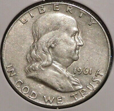 Franklin Half Dollar - 1961-D - Overstock Sale! - $1 Unlimited Shipping -466 • 8.55$
