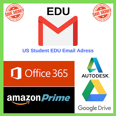$1.91 • Buy New Edu Email✅ Amazon Prime, Office 365✅1TB OneDrive Storage✅ Autodesk And More