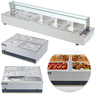 £135.95 • Buy Adjustable Temperature Electric Food Warmer Buffet Server Hot Plate 3/4/5/6 Tray