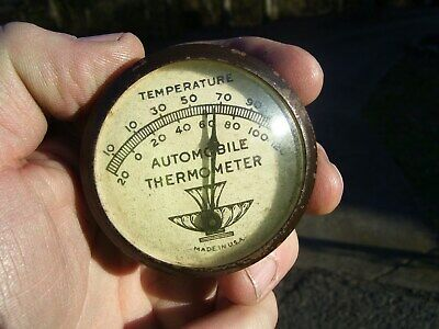 Original 1940' S 1950' S Vintage Accessory Automobile Visor Thermometer Gm Bombs • 104.50$