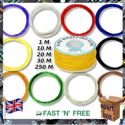 £2.87 • Buy 0.25mm Copper Wire 30AWG OK Line 10 Colours 1-250M For Arduino RPI Electronics