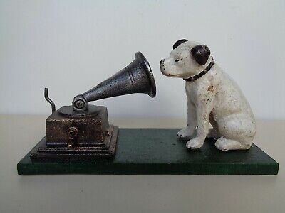 HMV Cast Model Of NIPPER & Gramaphone The Advertising Dog - For Music Lovers (vo • 19.75£