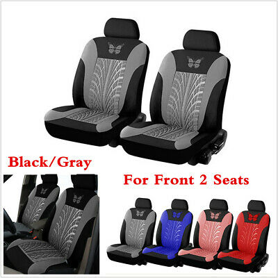 $ CDN35.06 • Buy Universal Car Seat Covers Gray Butterfly Prints 2Pcs Front Seats Covers Cushion