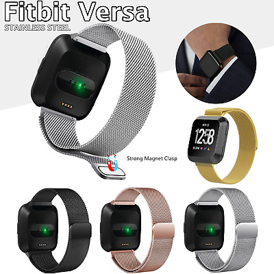 $ CDN11.99 • Buy New Replacement For Fitbit Versa Watch Band Wrist Stainless Steel Metal Strap