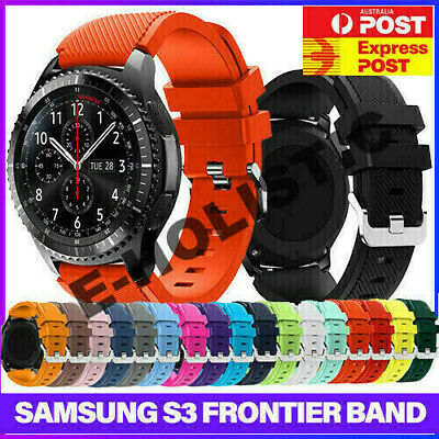 AU8.99 • Buy Sport Rubber Silicone Watch Band Strap For Samsung Gear S3 Frontier Classic 22mm