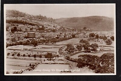 Pontypridd - General View Showing Graig Vr Hesq - Real Photographic Postcard • 8£