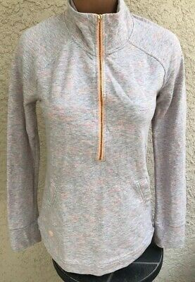 Lilly Pulitzer Skipper Pullover Small S Sunny Graphic 1/2 Zip UPF Pocket Terry  • 23.99$