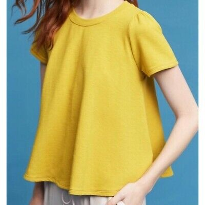 $ CDN39.60 • Buy Anthropologie NWT Size Small Eri + Ali Westward Swing Top Chartreuse Yellow