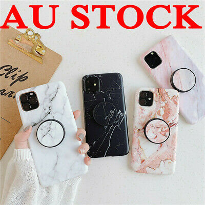 AU6.59 • Buy For IPhone 11 Pro Max Case Marble Pattern With Pop Up Holder TPU Shockproof AU