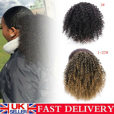 Hot Afro Style Kinky Wave Curly Ponytail Puff Drawstring Clip In Hair Extensions • 11.31£