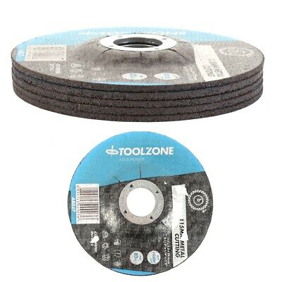 £5.57 • Buy 5x METAL CUTTING GRINDING DISCS DEPRESSED 115mm Angle Grinder Disks Centre Stone