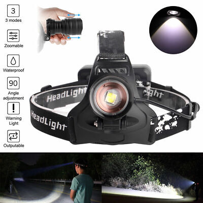 $18.95 • Buy 990000LM XHP50 LED Zoom USB Rechargeable Headlamp Head Light Hunting Torch