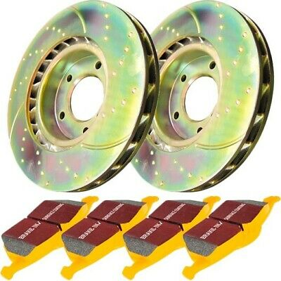 S5KR1070 EBC Brake Disc And Pad Kits 2-Wheel Set Rear New For Ford Focus 02-04 • 336.69$