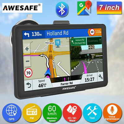 AU83.99 • Buy 7  Awesafe GPS Navigation With Bluetooth Portable GPS SAT NAV Free Australia Map
