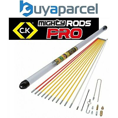 £111.95 • Buy C.K Tools MightyRod PRO Cable Rod Super Set 12m Cable Pull Rods Router T5422