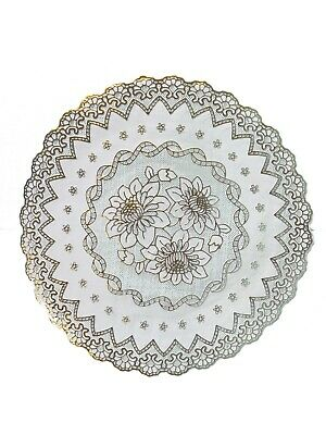 Gold Round Lace Effect Table Place Mats Home Christmas Weddings Table Decor Uk  • 2.79£