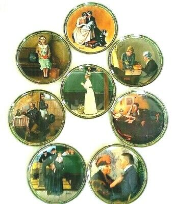 $ CDN52.80 • Buy Norman Rockwell's American Dream, Full Set Of 8 Ltd Ed Collector Plates, Knowles